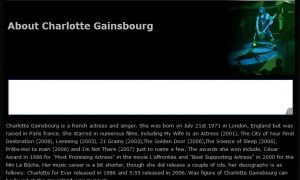 About Charlotte Gainsbourg