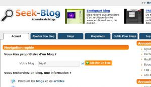 Site officiel : http://www.seek-blog.com