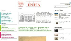 Site officiel : http://www.inha.fr