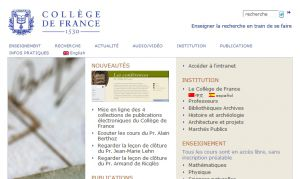 Site officiel : http://www.college-de-france.fr