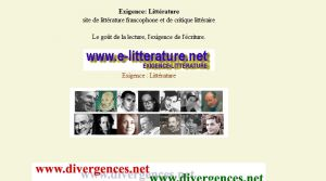 Site officiel : http://www.e-litterature.net