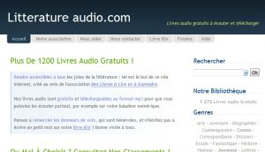 Site officiel : http://www.litteratureaudio.com