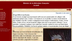 Site officiel : http://www.la-litterature.com
