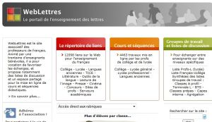Site officiel : http://www.weblettres.net
