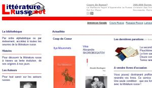 Site officiel : http://www.litteraturerusse.net