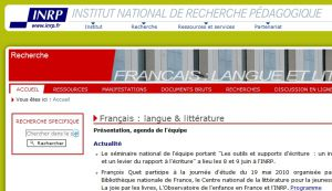 Site officiel : http://litterature.inrp.fr