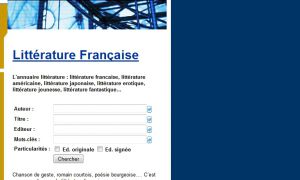 Site officiel : http://www.litterature.com