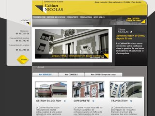 Site Officiel : Cabinet Nicolas Immobilier