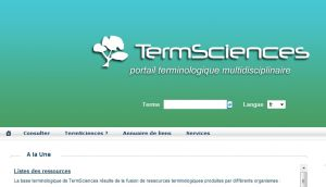 TermSciences - Terminologie Scientifique