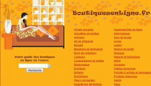 Site officiel : http://www.boutiquesenligne.fr