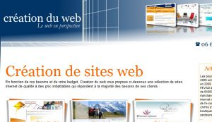 Site officiel : http://www.creation-du-web.com