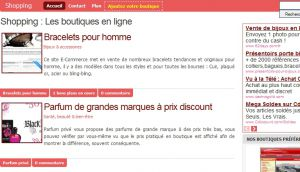Site officiel : http://www.boutique-ligne.net