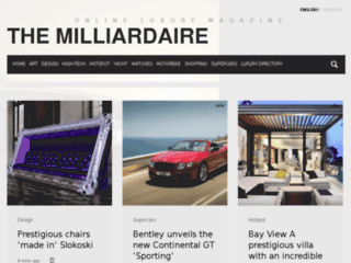 Site officiel : http://www.themilliardaire.com/supercars/