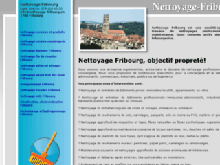 Site officiel : http://www.nettoyage-fribourg.ch