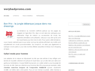 Site Officiel : verybadpromo.com