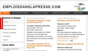 Site officiel : http://www.emploisdanslapresse.com