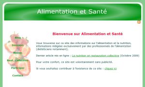 Site officiel : http://www.alimentation-et-sante.com