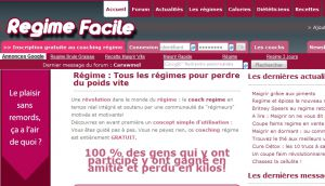 Site officiel : http://www.regime-facile.fr