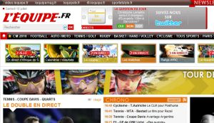 Site officiel : http://www.lequipe.fr