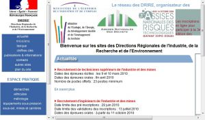 Site Officiel www drire gouv fr