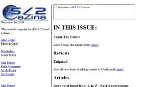 OS/2 e-Zine - The Best OS/2 Reading Anywhere!
