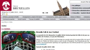 Site officiel : http://www.bruxelles.be