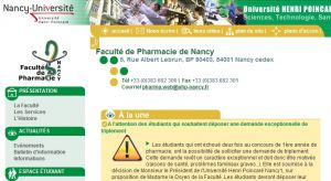 Site officiel : http://www.pharma.uhp-nancy.fr