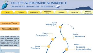 Site officiel : http://www.pharmacie.univ-mrs.fr