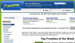 Free Center Find free homepages, webpages, email, counters, trackers, promotion links and more!