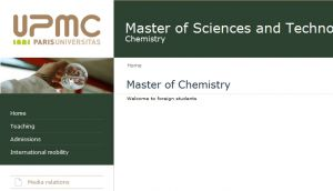Site Officiel www master chimie upmc fr