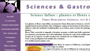 Site officiel : http://www.sciencesetgastronomie.com