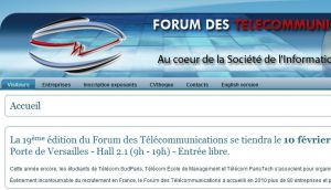 Site officiel : http://www.forumdestelecommunications.fr