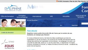 Site officiel : http://www.formation-continue.dauphine.fr