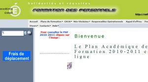 Site officiel : http://caform.ac-creteil.fr
