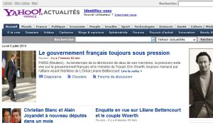 Site officiel : http://fr.news.yahoo.com