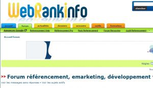 Site officiel : http://forum.webrankinfo.com