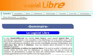 Site officiel : http://lelogiciellibre.net