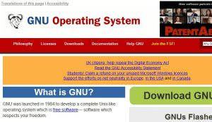 Site officiel : http://www.gnu.org