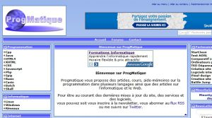 Site officiel : http://www.progmatique.fr
