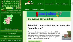Site officiel : http://jeuxsoc.fr