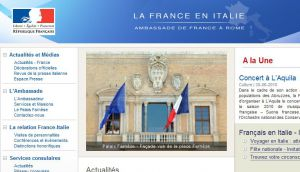 Site officiel : http://www.ambafrance-it.org