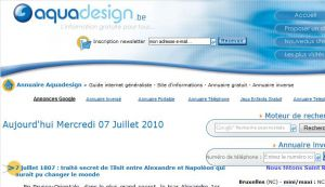 Site officiel : http://www.aquadesign.be