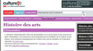 Site Officiel www histoiredesarts culture fr