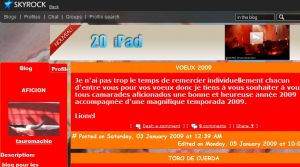 Site officiel : http://tauromachie.skyrock.com