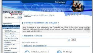 Site Officiel formations univ-nancy2 fr