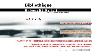 Site Officiel www bu univ-paris8 fr