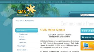 Site officiel : http://www.cmsmadesimple.fr