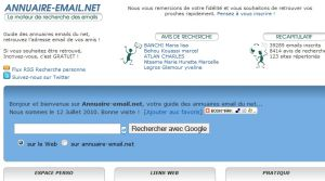 Site officiel : http://www.annuaire-email.net