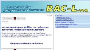 Site officiel : http://www.bac-l.com