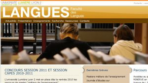 Site officiel : http://langues.univ-lyon2.fr
